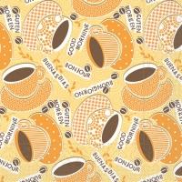 Tissue Lunch Servietten - KAFFEE OLE gelb / orange