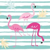 Linclass Dinner Servietten Flamingo