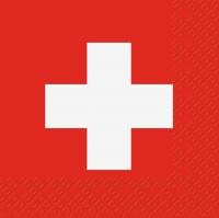 Servietten 33x33 cm - Schweiz