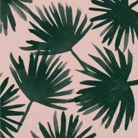 Servietten 25x25 cm - Palma rosa hell