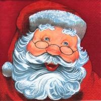 Servietten 24x24 cm - Father Christmas red