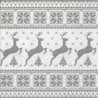 Servietten 25x25 cm - Deers with Trees taupe