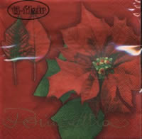 Servietten 24x24 cm - Poinsettia red