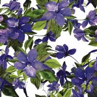 Servietten 24x24 cm - Flowering Clematis lilac