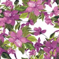 Servietten 24x24 cm - Flowering Clematis pink