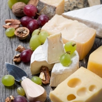 Servietten 24x24 cm - Cheese, Grapes & Walnuts
