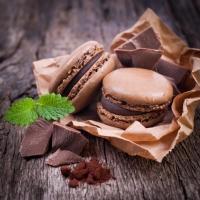 Servietten 25x25 cm - Makronen & Schokolade