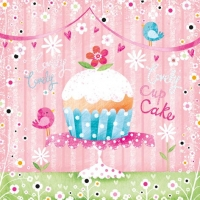Servietten 25x25 cm - Lovely Cup Cake