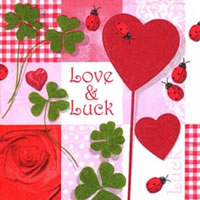 Servietten 24x24 cm - Love & Luck