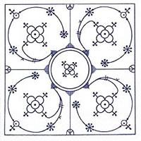 Servietten 24x24 cm - Indisch blau