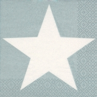 Servietten 24x24 cm - Bright Star silver