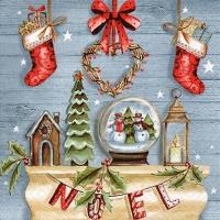 Servietten 33x33 cm - Rustique Noel
