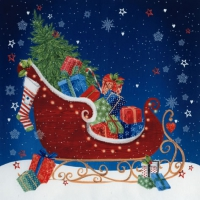 Servietten 33x33 cm - Sleigh at Christmas Eve