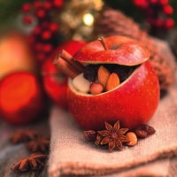 Servietten 33x33 cm - Roast Apple with Christmas Spices