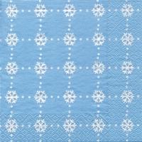 Servietten 33x33 cm - Cristaux de Glace iceblue