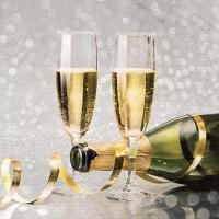 Servietten 33x33 cm - Flutes of Champagne