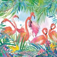 Servietten 33x33 cm - Flamingos