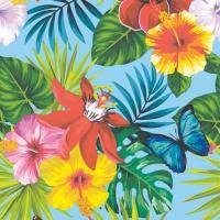 Servietten 33x33 cm - Jungle Fever teal blue