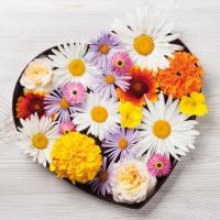 Servietten 33x33 cm - Flores de Corazon