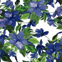 Servietten 33x33 cm - Flowering Clematis blue