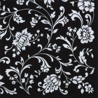 Servietten 33x33 cm - Arabesque Black black-white
