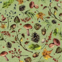 Servietten 33x33 cm - Autumn Forest green