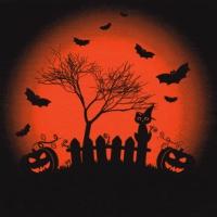 Servietten 33x33 cm - Happy Halloween Trick