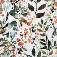 Servietten 33x33 cm - Boho Leaves & Herbs vintage