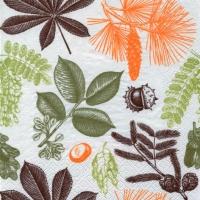 Servietten 33x33 cm - Forest Leaves & Fruits
