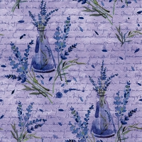 Servietten 33x33 cm - Lavanda in Bottiglie lilac