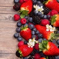 Servietten 33x33 cm - Frutti di Bosco