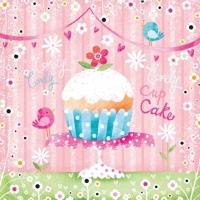 Servietten 33x33 cm - Lovely Cup Cake