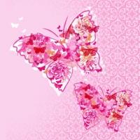 Lunch Servietten Papillons de Rêve pink