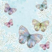 Servietten 33x33 cm - Bellissima Farfalla blue