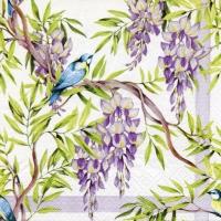 Servietten 33x33 cm - Wisteria lilac