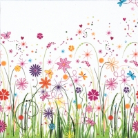 Servietten 33x33 cm - Enchanted Floral Meadow