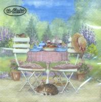 Servietten 33x33 cm - Lunch on Garden Table