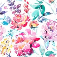 Servietten 33x33 cm - Fleurs Lumineuses multi