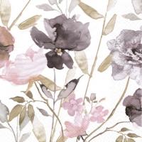 Servietten 33x33 cm - Viola Fiori Vintage