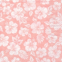 Servietten 33x33 cm - Hibisco rosé