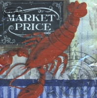 Servietten 33x33 cm - Market Price - Lobster