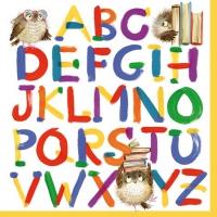 Servietten 33x33 cm - Buntes Alphabet