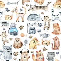 Servietten 33x33 cm - Pet Cats