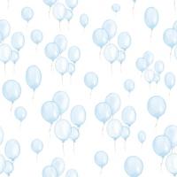 Servietten 33x33 cm - Petit Ballons bleu