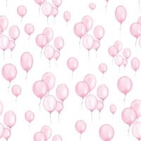 Servietten 33x33 cm - Petit Ballons rose