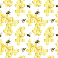 Servietten 33x33 cm - Honey Bees