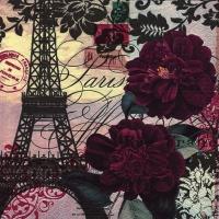 Servietten 33x33 cm - Art Parisienne