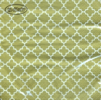 Servietten 33x33 cm - Quattrefoil Lattice gold
