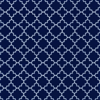 Lunch Servietten Quattrefoil Lattice navy