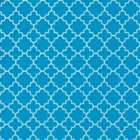 Servietten 33x33 cm - Quattrefoil Lattice teal